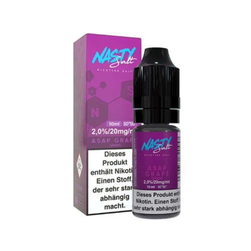 Nasty Juice Asap Grape Nikotinsalz Liquid Traube Eis 10ml 20mg 50/50