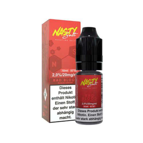 Nasty Juice Bad Blood Nikotinsalz Liquid Johannisbeere Eis 10ml 20mg 50/50