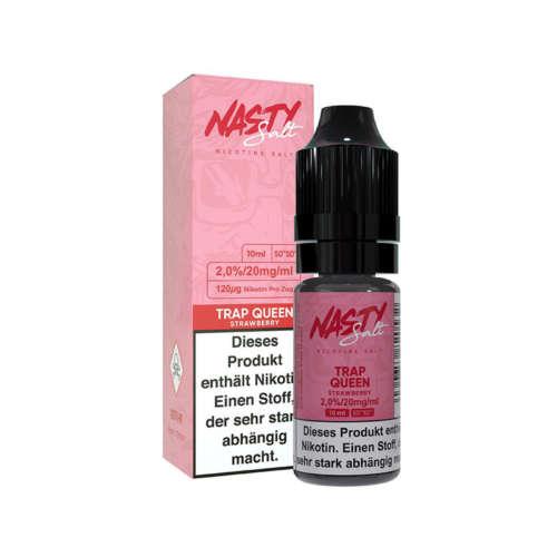 Nasty Juice Trap Queen Nikotinsalz Liquid Erdbeere Eis 10ml 20mg 50/50
