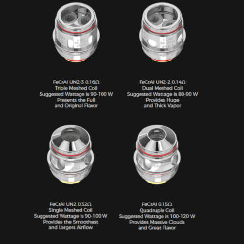 Uwell Valyrian 2 Coil Verdampferkopf Mesh Single 0,32 Ohm Dual 0,14 Triple 0,16 Quadruple 0,15