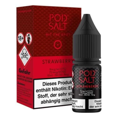 Strawberry Pod Salt Nikotinsalz 11mg/ml Liquid Saltnic und Shortfill