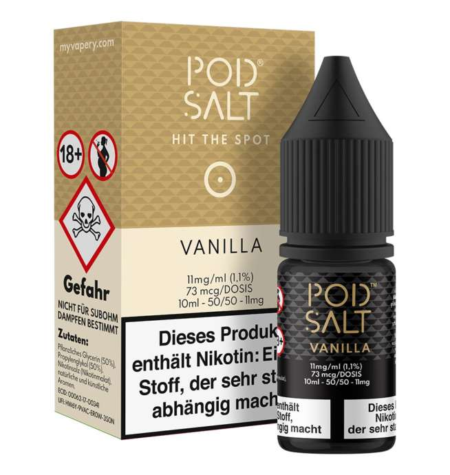 Vanilla Pod Salt Nikotinsalz 11mg/ml Liquid Saltnic und Shortfill