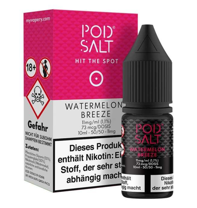 Watermelon Breeze Pod Salt Nikotinsalz 11mg/ml Liquid Saltnic und Shortfill