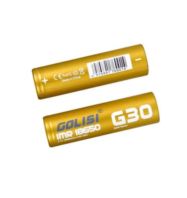 Zubehör Akku Golisi G30 18650